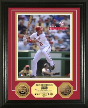 Ryan Zimmerman 24KT Gold Coin Photo Mint