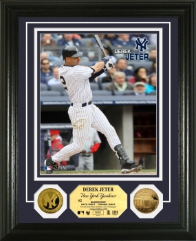 "Derek Jeter ""Opening Day"" 24KT Gold Coin Photo Mint"