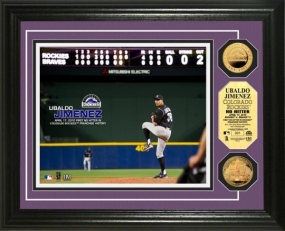 Ubaldo Jimenez No-Hitter 24KT Gold Coin Photo Mint