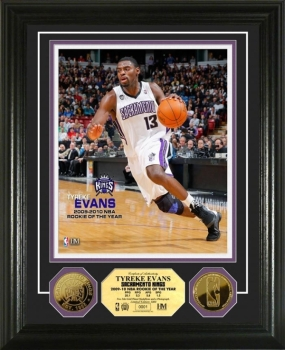 Tyreke Evans 2009-10 NBA Rookie of the Year 24KT Gold Coin Photo Mint