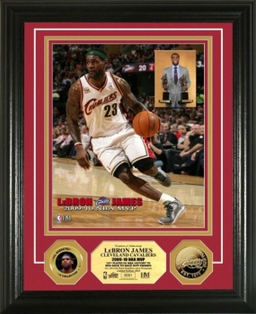 LeBron James 2009-10 NBA MVP 24KT Gold Photo Mint