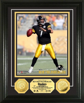 Ben Roethlisberger 24KT Gold Coin Photo Mint