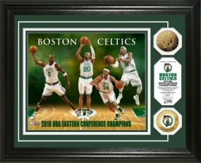 Boston Celtics 2010 NBA Eastern Conference Champions 24KT Gold Coin Photo Mint