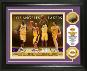 L.A. Lakers 2010 NBA Western Conference Champions 24KT Gold Coin Photo Mint