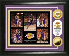 L.A Lakers 2010 Western Conference Champions Celebration 24KT Gold Coin Photo Mint