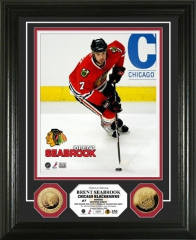 Brent Seabrook 24KT Gold Coin Photo Mint