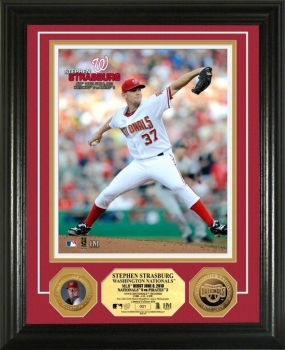 Stephen Strasburg MLB Debut 24KT Gold Coin Photo Mint