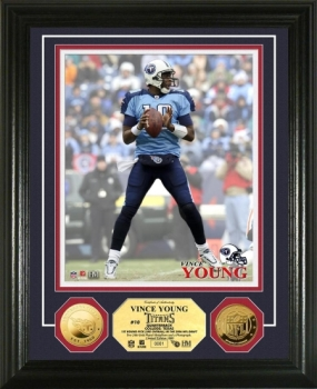 Vince Young 24KT Gold Coi n Photo Mint