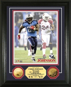 Chris Johnson 24KT Gold Coin Photo Mint