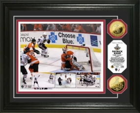 Patrick Kane The Goal 24KT Gold Coin Photo Mint