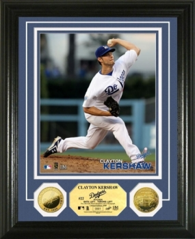Clayton Kershaw 24KT Gold Coin Photo Mint