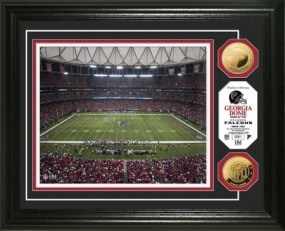 Georgia Dome 24KT Gold Coin Photo Mint