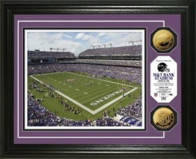 M&T Bank Stadium 24KT Gold Coin Photo Mint