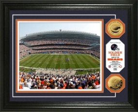 Soldier Field 24KT Gold Coin Photo Mint