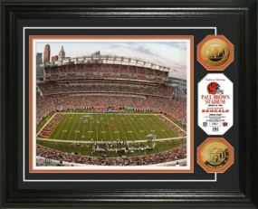 Paul Brown Stadium 24KT Gold Coin Photo Mint