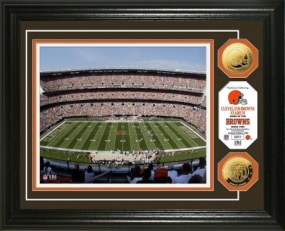 Cleveland Browns Stadium 24KT Gold Coin Photo Mint