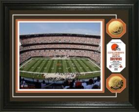 Cleveland Browns Stadium 24KT Gold Coin Photo Mint