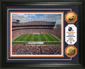 Invesco Field at Mile High Stadium 24KT Gold Coin Photo Mint