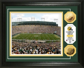 Lambeau Field 24KT Gold Coin Photo Mint