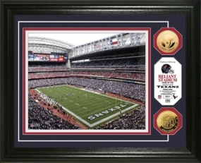 Reliant Stadium 24KT Gold Coin Photo Mint
