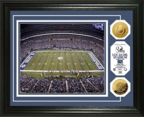 Lucas Oil Stadium 24KT Gold Coin Photo Mint