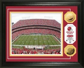Arrowhead Stadium 24KT Gold Coin Photo Mint