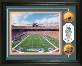 Sun Life Stadium 24KT Gold Coin Photo Mint