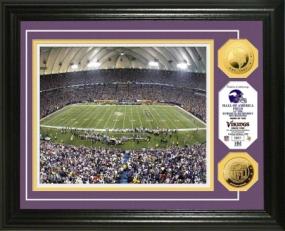 Hubert H. Humphrey Metrodome 24KT Gold Coin Photo Mint