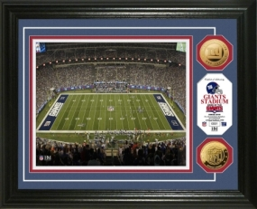 Giants Stadium 24KT Gold Coin Photo Mint