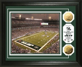 Jets Stadium 24KT Gold Coin Photo Mint