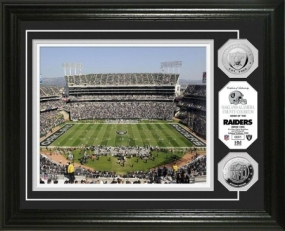 Oakland-Alameda County Coliseum Silver Coin Photo Mint