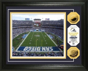 Qualcom Stadium 24KT Gold Coin Photo Mint