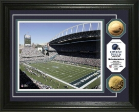 Qwest Field 24KT Gold Coin Photo Mint