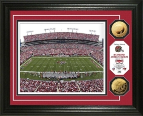 Raymond James Stadium 24KT Gold Coin Photo Mint