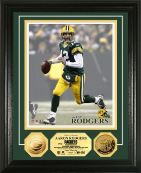 Aaron Rodgers 24kt Gold Coin Photo Mint