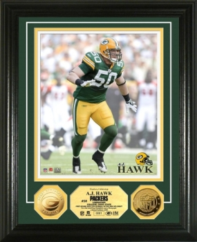 AJ Hawk 24KT Gold Coin Photo Mint
