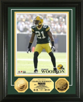 Charles Woodson 24KT Gold Coin Photo Mint