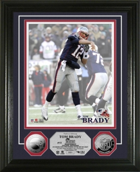 Tom Brady 2010 Silver Coin Photo Mint