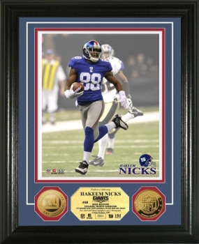 Hakeem Nicks 24KT Gold Coin Photo Mint