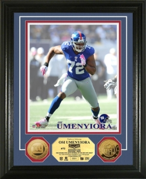 Osi Umenyiora 24KT Gold Coin Photo Mint