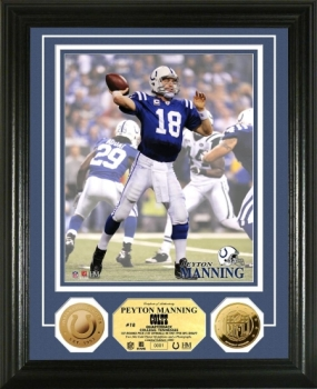 Peyton Manning 24KT Gold Coin Photo Mint