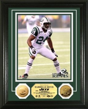 Darrelle Revis 24KT Gold Coin Photo Mint
