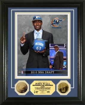 John Wall Draft Day 24KT Gold Coin Photo Mint