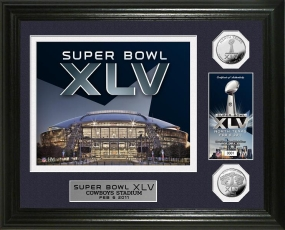 Super Bowl XLV Commemorative 24KT Gold Coin Photo Mint