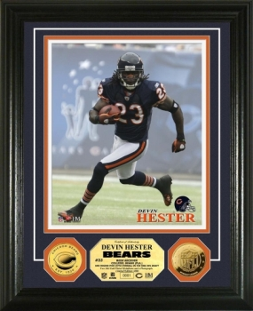 Devin Hester 24KT Gold Coin Photo Mint