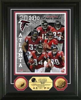 Atlanta Falcons Team Force 24KT Gold Coin Photo Mint