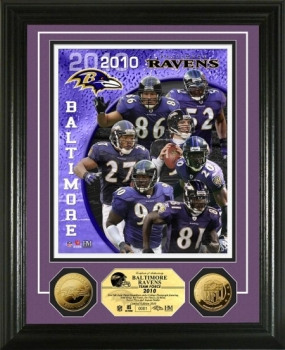 Baltimore Ravens Team Force 24KT Gold Coin Photo Mint