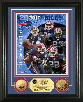 Buffalo Bills Team Force 24KT Gold Coin Photo Mint