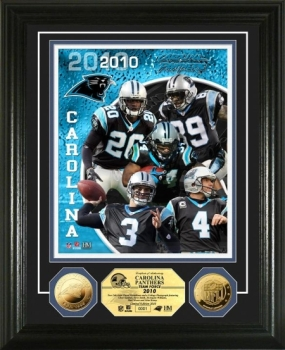 Carolina Panthers Team Force 24KT Gold Coin Photo Mint