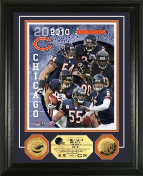 Chicago Bears Team Force 24KT Gold Coin Photo Mint